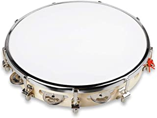 "Mr.Power 10"" Capoeira Pandeiro Drum Tambourine Samba Brasil Wood Music Instrument"