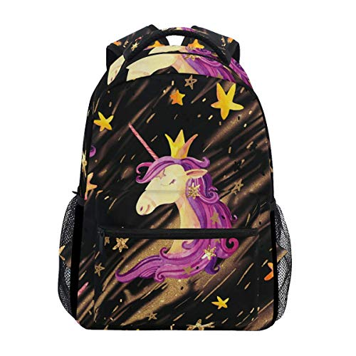Mochila Unicorn Stars Cute Animal Casual School Bag College Book Mochila Daypack Gift Laptop Printed Travel...
