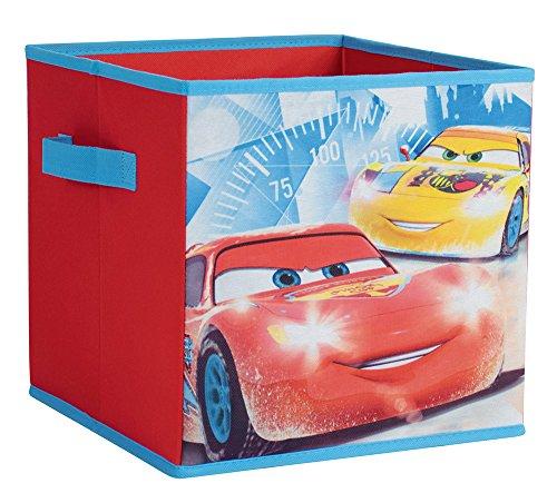 FUN HOUSE 712771 Rangement Pliable avec poignées Cars Disney, Polypropylène, Rouge, 30 x 3 x 30 cm