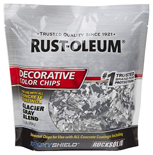 Rust-Oleum 312449 Decorative Color Chips, 1 Lb, Glacier Gray Blend