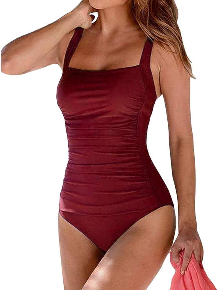 STaemin Femmes 1 pièce Maillots de bain Femmes Push Up Vintage Haute Coupe Body vêtements de Plage