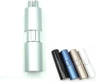 ShopXJ 香水 メンズ アトマイザー 大人 男性 プッシュ式 詰め替え 持ち運び 身だしなみ 携帯用 15ml (シルバー)