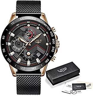 Lige Casual Watch For Men Analog Stainless Steel - LIGE 9929