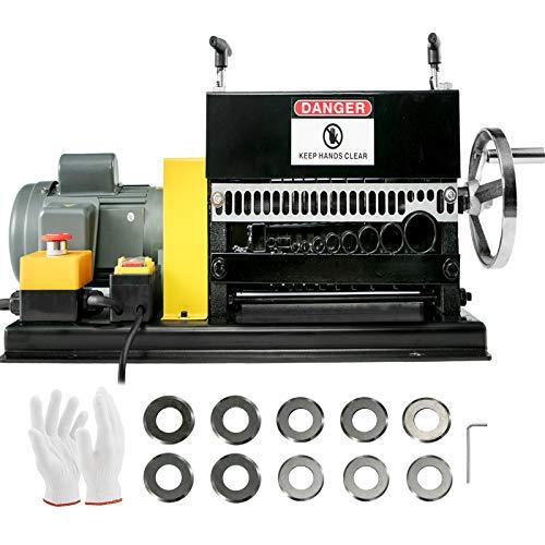 Mophorn Kabelschälmaschine elektrisch 1.5-38mm Kupferschrott 400W 1400RPM Abisoliermaschine mit 10 Löchern kabelabisoliermaschine