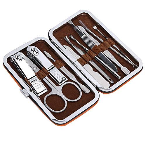 Set manicure Clip per sopracciglia Kit per la cura delle unghie Forbicine per unghie in acciaio inossidabile Kit per la cura delle orecchie Punta per uso professionale per viaggi per uso in