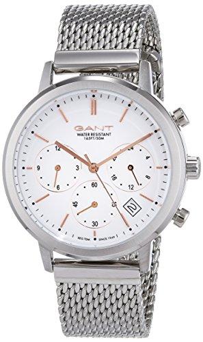 GANT Damen Analog Quarz Uhr mit Edelstahl Armband GT032001