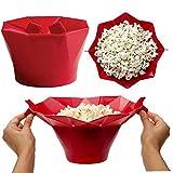 Case Cover Popcorn-Maschine, Mikrowelle Silikon Popcorn Popper Heißluft-Big Size Zusammenklappbarer Bowl Bpa Frei Spülmaschinenfest Hohe Temperaturbeständigkeit Für Heim