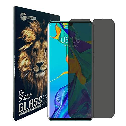 KABIOU Protector de pantalla de privacidad de vidrio templado para Huawei P40 Lite E 5G P30 P20 Lite 2019 P10 Pro Lite Anti-Spy Anti Peep Cover - Huawei P10 Plus