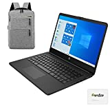 2020 HP 14 inch HD Laptop, Intel Celeron N4020 up to 2.8 GHz, 4GB DDR4, 64GB eMMC Storage, WiFi 5, Webcam, HDMI, Windows 10 S /Legendary Accessories (Google Classroom or Zoom Compatible) (Black)
