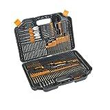 Taladro 246 piezas y Drive Juego de brocas HSS con titanio recubierto Bits y de almacenamiento caso de perforación metal, mampostería, madera y plásticos Accesorios para herramientas