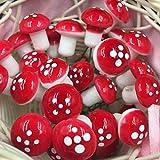 Longspeed 25 Mini Foam Red Mushroom Garden Miniatur Topf Sukkulente Bonsai Craft - Rot