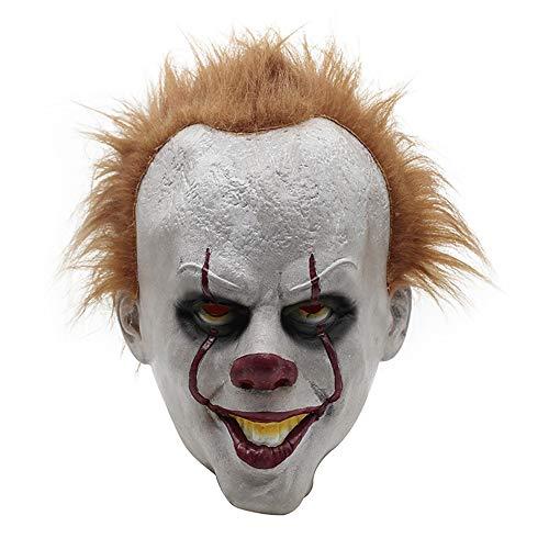 MIMINUO Máscara de látex Cosplay Asustadiza Máscara Facial Completa Disfraz de Halloween Fiesta Espeluznante Accesorios de Terror (B)