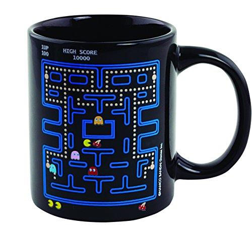 Divers Pac-Man Thermoeffekt Tasse Offizieller Lizenzartikel, Keramik, Schwarz, 8 x 12 x 10 cm, 2