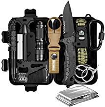 Gifts for Men Dad Him Husband, Survival Gear and Equipment, Survival Kit 11 in 1, Christmas Stocking Stuffers, Fishing Birthday Gifts for Boyfriend Teenage Boy, Cool Gadget, Official EDC Survival Kit