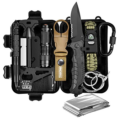 Gifts for Men Dad Him Husband, Survival Gear and Equipment, Survival Kit 11...