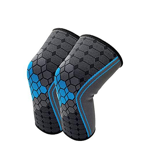 Mabor Suporte de joelho, pacote com 2 joelheiras para corrida, joelheiras, joelheiras de compressão para artrite, suporte de joelho para dor nas articulações, suporte de joelho masculino e feminino