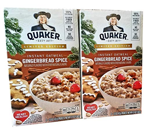 Gingerbread Spice  Pack of 2  Limited Edition Quaker Instant Oatmeal