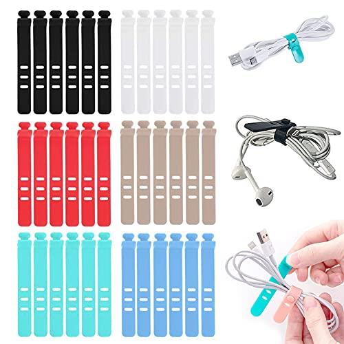 Bridas De Cable De Silicona / 36 Pcs Organizador De Cable/ Organizador...