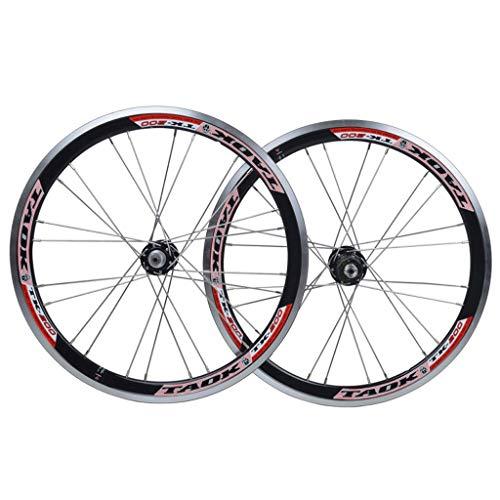MZPWJD Ciclismo Ruedas BMX Juego De Ruedas De Bicicleta De 20 Pulgadas 406 Llanta V- Freno Liberación Rápida Rueda De Bicicleta 7/8/9/10 Velocidad Casete (Color : Black, Size : 20')