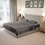 Mulberry Park 100% Pure King Silk Sheet Set 4 Pcs 22 Momme 6A Mulberry Silk Bed Sheets with 15' Deep...