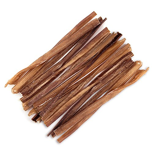 GigaBite 12 Inch Slim Odor-Free All Natural Bully Sticks by Best Pet Supplies - Pack of 25 (PB-12-V-25T)