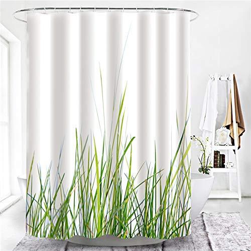 XCBN Trébol de la Suerte decoración del hogar decoración de baño Cortinas de Ducha Verde Cortina Impermeable para bañera decoración de Ducha A25 150x180cm