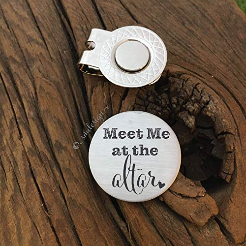 Meet Me At The Altar Golf Ball Marker- Gift For Fiance Gift For Your Partner Gift For Avid Golfer Golfing Gift For Husband Golfing Gift