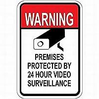 壁の装飾のための24時間のビデオ監視サインアルミニウム金属サインによって保護された165の新しいブリキサイン警告施設8x12インチ