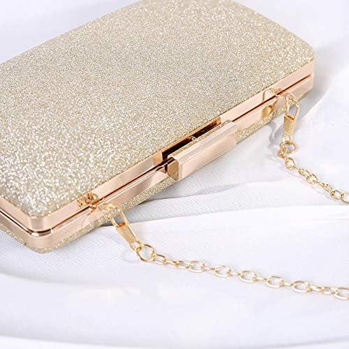 JINGXU Clutch Purses for Women Evening Bags Sparkling Frosted Shoulder Party Cross Body Handbags