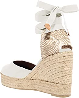 Best tie up wedges white Reviews