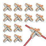 20 pezzi connettori compatti, connettore elettrico di tipo t, morsettiera connettore molla, morsetti elettrici rapidi, compact connettori elettrici con leva di funzionamento
