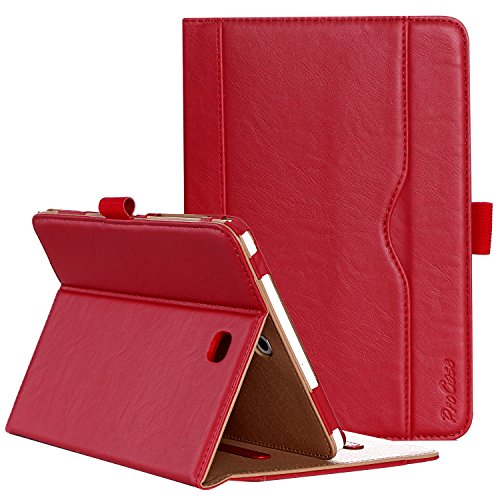 ProCase Samsung Galaxy Tab S2 8.0 Case - Premium PU Leather Stand Folio Case Cover for 2015 Galaxy Tab S2 (Model: SM-T710 / T715 / T713 /T719) -Red