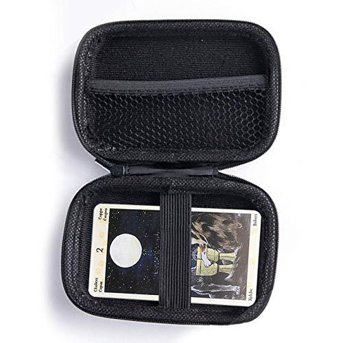 Faderr Spielkarten-Etui, Tarotkarten-Aufbewahrung, Spielkarten-Etui, universell, tragbar, hart, EVA, kratzfest, Tarot-Organizer, Aufbewahrungsbox (schwarz)