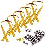 JatilEr 21pcs Slingshot Rubber Bands Replaceable Powerful Flat Rubber/Latex Band for Slingshot Hunting Slingshot Outdoor Shooting Game