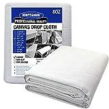 Kingorigin Canvas Drop Cloth 9x12feet for Painting, Painters Drop Cloth, Paint Tarp, Curtains, Painting Supplies, Canvas Sheet