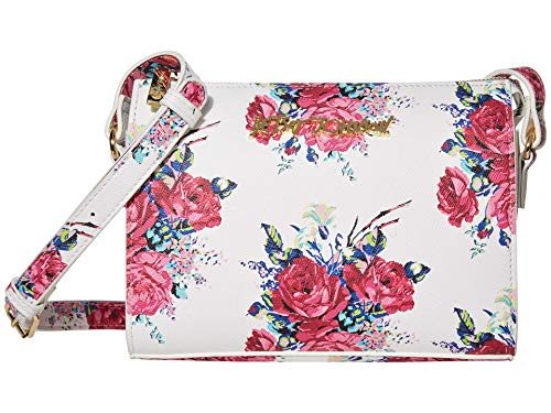 Betsey Johnson Printed Crossbody White One Size