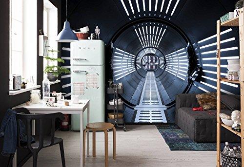 Komar 8-455 Fototapete aus Papier Star Wars – Tunnel, Größe 368 x 254 cm (Breite x Höhe), 8 Teile, inklusive Kleister, Made in Germany, Bunt