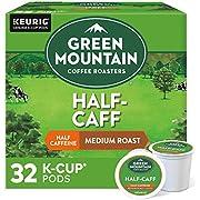 Green Mountain Coffee Roasters Half Caff Keurig Single-Serve K Cup Pods, Medium Roast Coffee, 32Count, Half Caff, 32Count