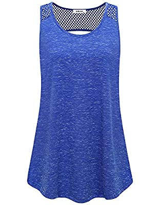 AxByCzD Womens Yoga Tops Activewear Workout Clothes Open Back Fitness Sleeveless Tank Tops