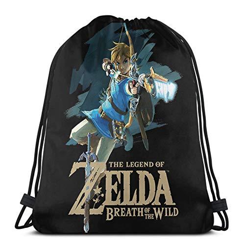 JIAMEIMEI The Legend Of Zelda Turnbeutel Kordelzug Rucksack Tasche Leichtes Fitnessstudio Sackpack für Beach Sport Gym Travel Yoga Drawstring Bag