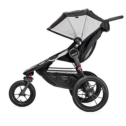 Baby Jogger Summit X3 Jogging Stroller - 2016 | Air-Filled Rubber Tires | All-Wheel Suspension | Quick Fold Jogging Stroller, Black/Gray