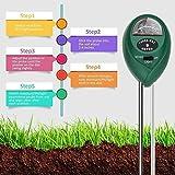 GPWDSN Probador de Suelo Jardín Romote Crecimiento de Plantas 3-en-1 Medidor de Sensor de Humedad Luz Solar PH Kits de Prueba de Suelo precisos