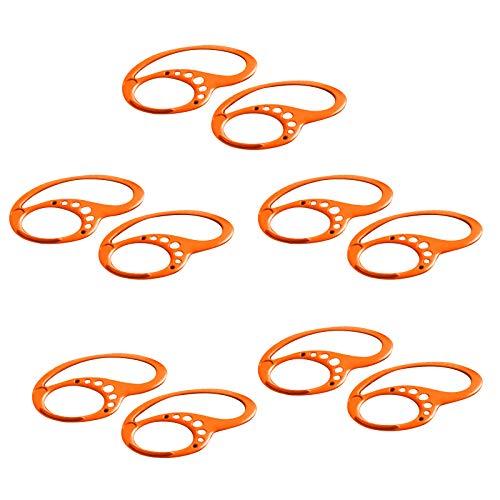 5 Pares Anti-Slip Anti-Drop Clip EarHooks de Oreja Portable Sport Ear Hooks Orejas fijas Silicone Color sólido Auriculares Correr Andar en Bicicleta Trotar Gimnasio and Indoor-Outdoor Actividades