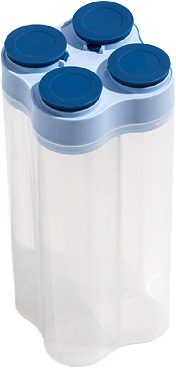 SunshineFace 4-Grid Cereal Airtight Containers With Excellence Ranking TOP5 Food Storage