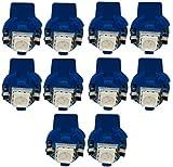 AERZETIX: 10 x Bombillas T5 12V LED SMD para salpicadero Luz azul