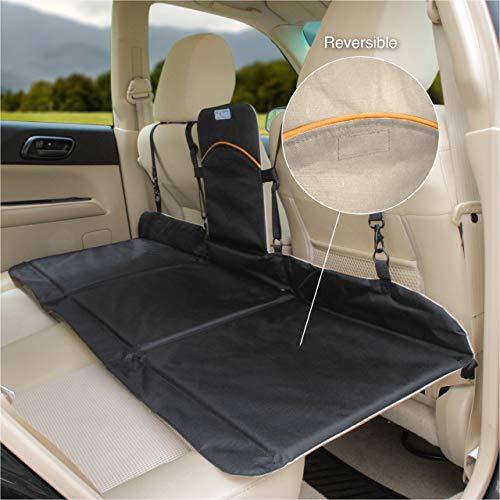 Kurgo Dog Backseat Bridge Car extender, Seat Bridge for Dogs, Padded Pet Car Barrier, Reversible, Water Resistant, Universal Fit, Cup Holder