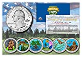 2020 2021 America The Beautiful Colorized Parks Quarters 6-Coin Set with Capsules and Certificate