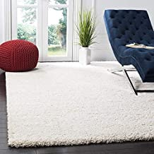 Prinee home decors Microfiber Shaggy Moroccan Ogee Plush Area Rug Carpet Floor Mat for Home, Bedside, Kitchen, Bed Room, Living Room, Multi-Purpose Thick Shaggy Rug with Anti Skid Polyester Backing (ivory, 5.2 x 7.9) feet