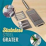 Multi-Purpose Vegetable Slicer, Stainless Steel Shredder Cutter Grater Slicer, Adjustable Kitchen Tool for Onion Vegetable Fruits
