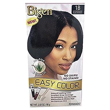 Bigen Easy Color Permanent Hair Dye With Aloe Olive Oil, Intense Black, 2.82 Oz (SG_B0722SMF14_US)